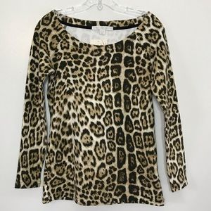 Boston Proper Leopard Sweatshirt